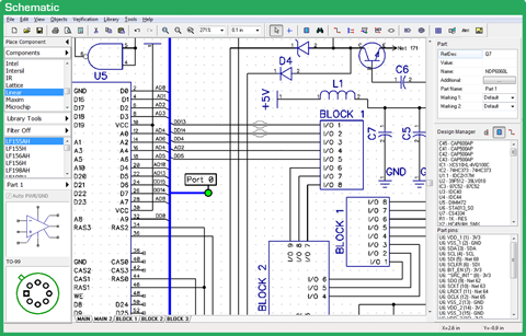 Schematic Capture - DipTrace on diagramming software, tube map, straight-line diagram, cross section, one-line diagram, block diagram, technical drawing, control flow diagram, data flow diagram, functional flow block diagram, function block diagram, schematic capture, piping and instrumentation diagram, ladder logic, electronic design automation, circuit diagram,